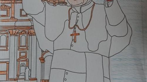 Obrazek galerii 100-lecie papieża - kolaże i teksty